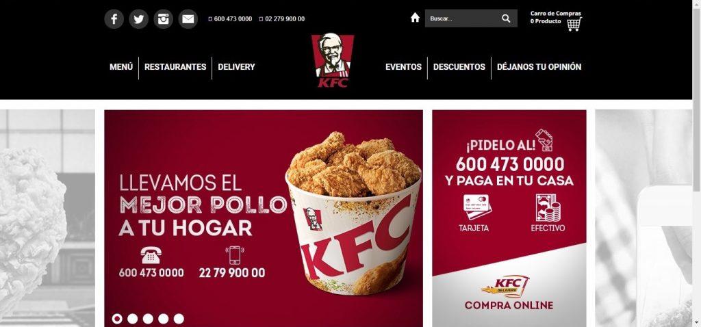 Chilean website of KFC